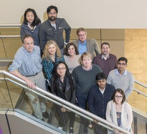 Members of the Psi team include: Back: Yiwen Xu, Venkat Srinivasan, David Raila, John Hart Middle: Steve Long, Donna Cox, Rachel Shekar, James O'Dwyar, Diwakar Shukla Front: Yu Wang, Balaji Panneerselvam, Amy Marshall-Colon
