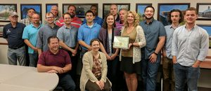 Engineering and Construction Services office employees were given their Gold-Level Certified Green Office award on July 10, 2017.