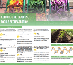 Thumbnail of food and land use update poster.