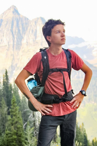 Joey Kreiling poses during a hiking trip.