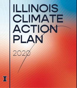 Cover art for iCAP 2020 reads: Illinois Climate Action Plan 2020